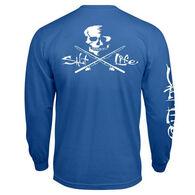 Salt Life Men's Skull and Poles Pocket Long-Sleeve Tee