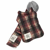 Touchdog ® 2-In-1 Tartan Plaided Dog Jacket With Matching Reversible Dog Mat, Red Plaid X-Small