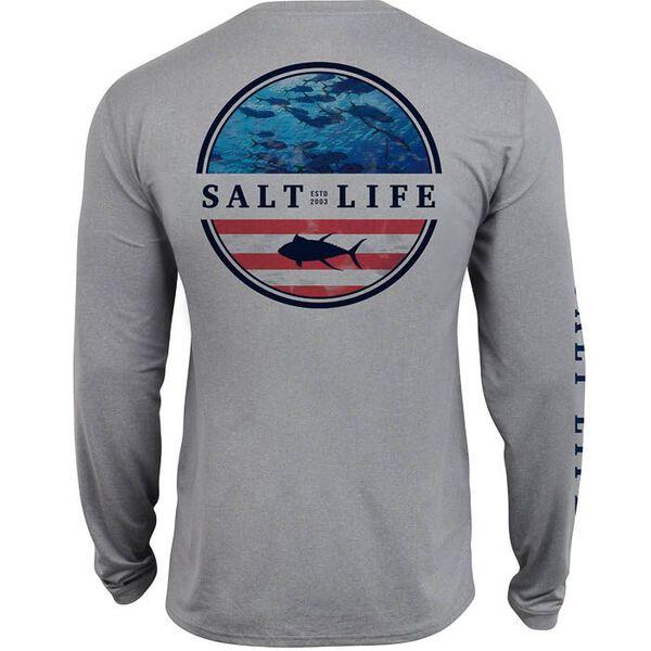 Salt Life Men's Respect Performance Long-Sleeve Pocket Tee
