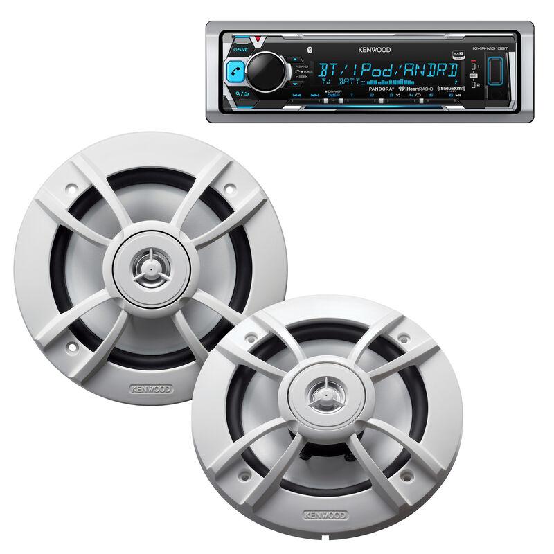 "Kenwood KMR-M315BT Marine Media Bluetooth Receiver Package w/Two 6.5"" Speakers image number 1"