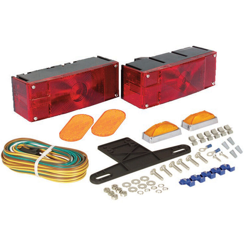 Optronics Waterproof Low-Profile Trailer Light Kit image number 1