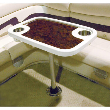 Toonmate Pontoon Table With Burl Wood Accent