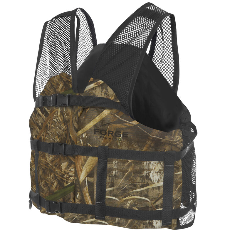 Forge Fishing V-Flow Air Mesh Vest, Max-5 Camo image number 2