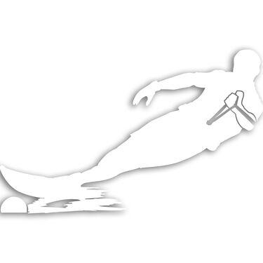 Slalom Skier Vinyl Decal