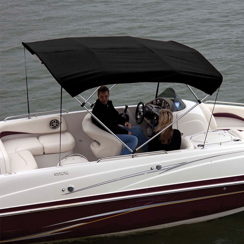 """Shademate Polyester 4-Bow Bimini Top Fabric, 8'L x 54""""H, 61""""-66"""" Wide FABRIC ONLY image number 1"""
