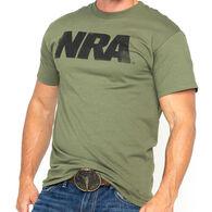 NRA Men's Distressed Block Logo Short-Sleeve Tee
