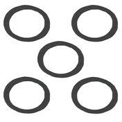 Sierra Filter Bowl Gasket For Johnson/Evinrude Engine, Sierra Part #18-2889-9