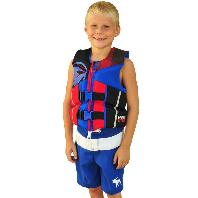 Hyperlite Pro V Youth Life Jacket, blue/red image number 4