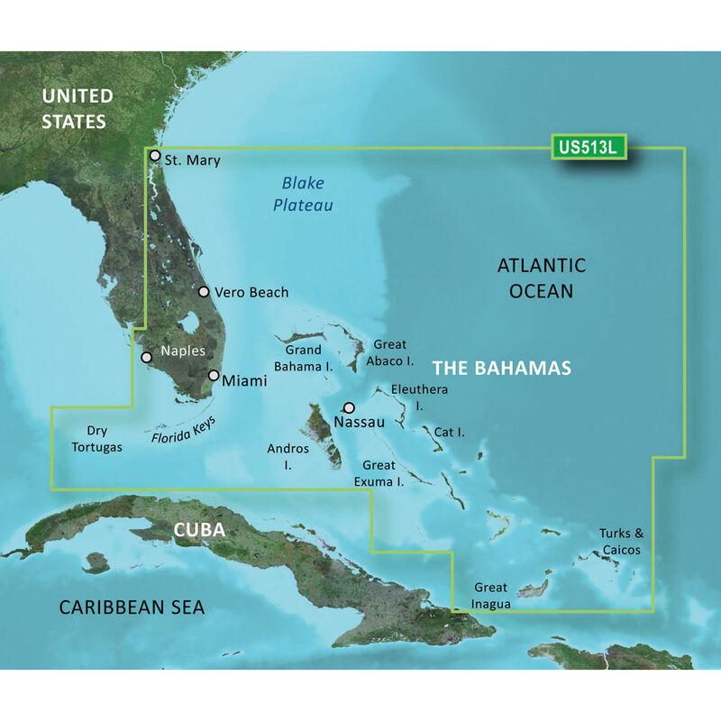 Garmin BlueChart g2 Vision HD Cartography, Jacksonville - Bahamas image number 1