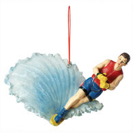 Slalom Waterskier Christmas Ornament