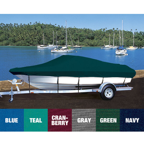 Custom Fit Hot Shot Coated Polyester Boat Cover For CROWNLINE 238 DB SIDE CONSOLE