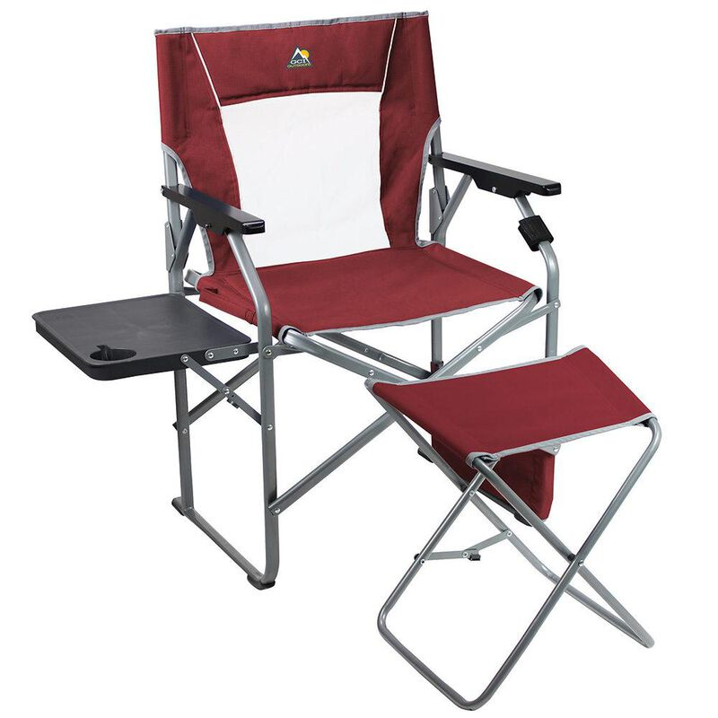 GCI Outdoor Folding Director's Chair With Ottoman image number 1
