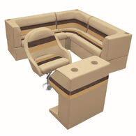 Deluxe Pontoon Furniture w/Classic Base - Rear Group Package C, Sand/Chestnt/Gld