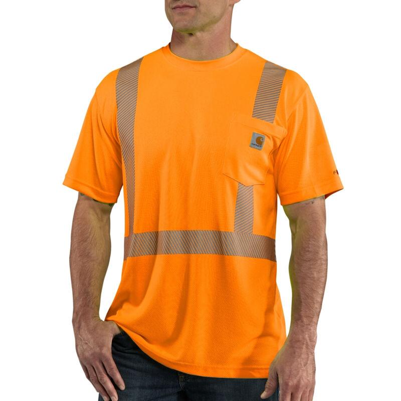 Carhartt Men's Force High-Visibility Short-Sleeve Class 2 T-Shirt image number 2