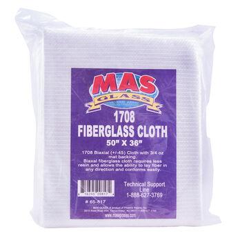 "MAS Epoxies Biaxial Fiberglass Cloth, 50"" x 36"""