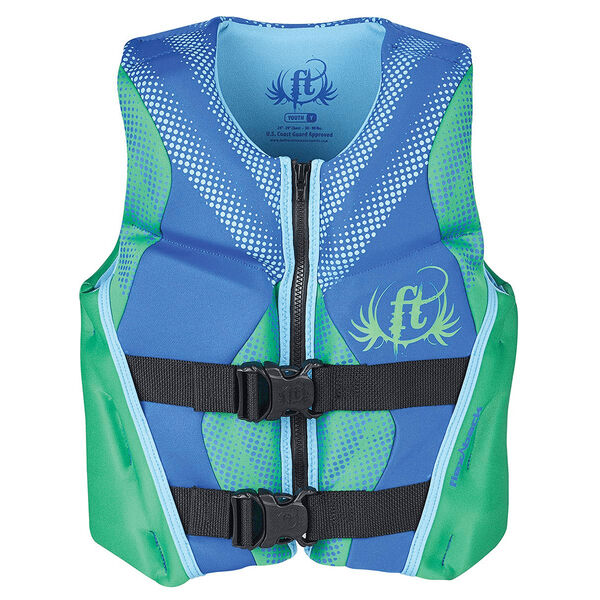 Full Throttle Youth Hinged Rapid-Dry Flex-Back Vest, Green