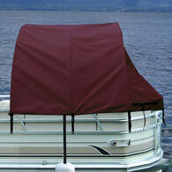 "Pontoon Easy-Up Enclosure 56""D x 74""T, Burgundy"
