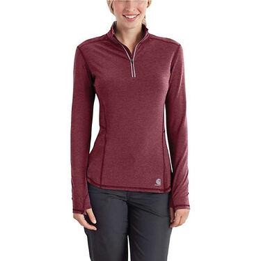 Carhartt Women's Force Ferndale Quarter-Zip Long-Sleeve Shirt