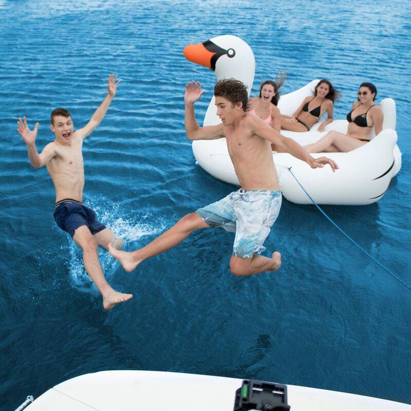 Swimline Biggest Giant Swan Inflatable Float image number 4
