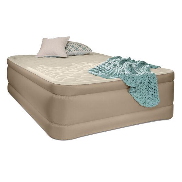 Intex Premium Foam-Top High-Rise Airbed with Fiber-Tech, Built-In Pump, Queen