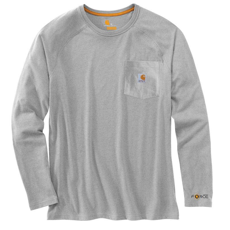 Carhartt Men's Force Cotton Delmont Long-Sleeve T-Shirt image number 14