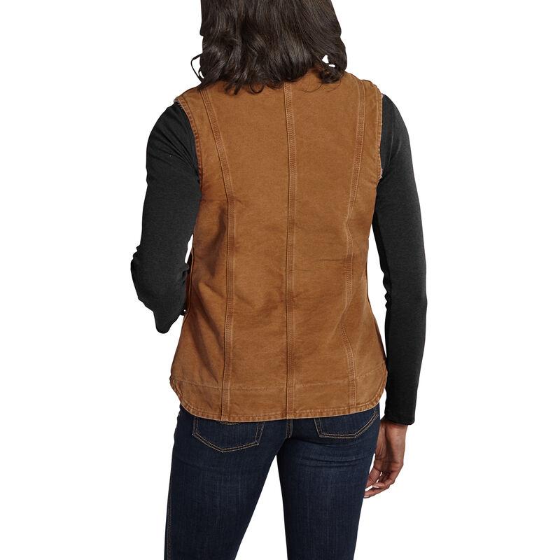 Carhartt Women's Sandstone Sherpa-Lined Mock-Neck Vest image number 6