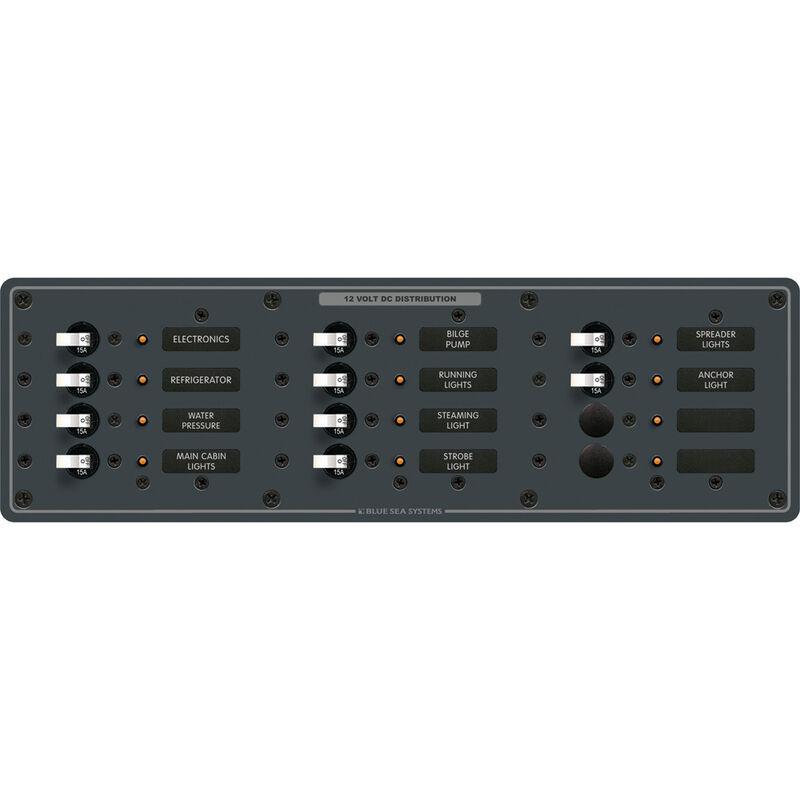 Blue Sea 12/24V DC Branch Circuit Breaker Panel - 12 Positions image number 1