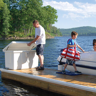 "Stow 'N Go Fiberglass Dock Box White Medium Standard (24""H x 72""W x 23""D)"
