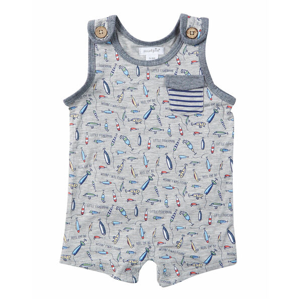 Mud Pie Boys' Fishing Sleeveless Romper