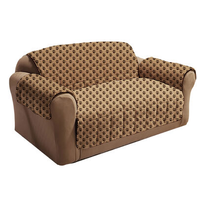 Paw Print Love Seat Cover