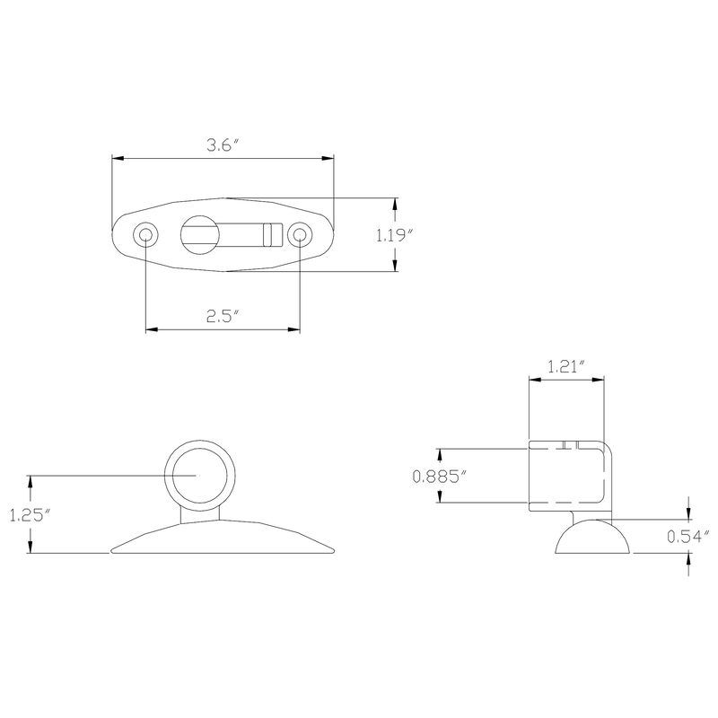Quick-Release Bimini Top Hinge - Side-Mount Only image number 2
