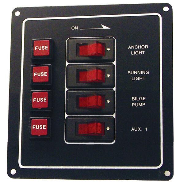 SeaSense 4-Gang Rocker Switch Panel