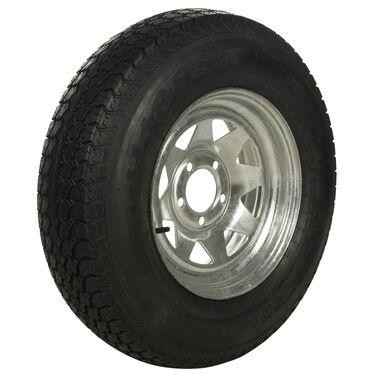 Tredit H188 175/80 x 13 Bias Trailer Tire, 5-Lug Spoke Galvanized Rim