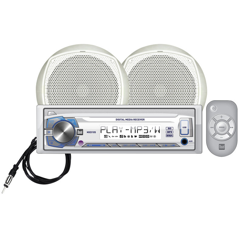"""Dual MCP105 USB/MP3/WMA Media Receiver With Two 6.5"""" Speakers image number 1"""
