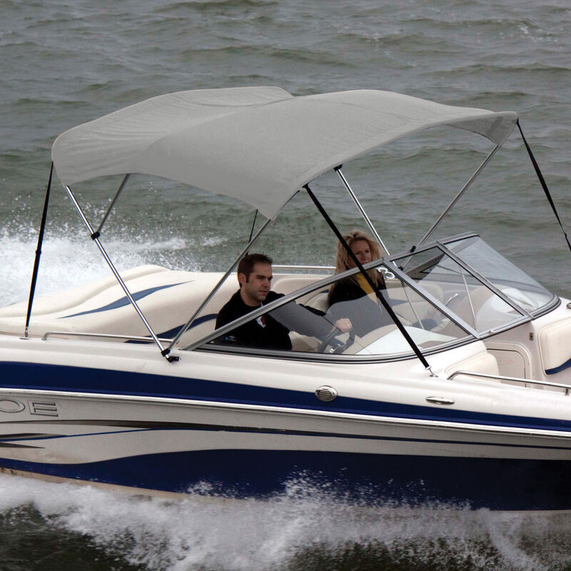 """Bimini Top Polyester Fabric and Boot Only, 3-Bow 6'L, 46""""/54""""H, 54""""-60""""W image number 3"""