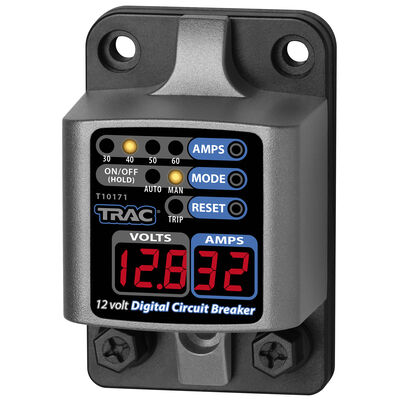 TRAC Digital Circuit Breaker With LED Display, 30-60 Amps