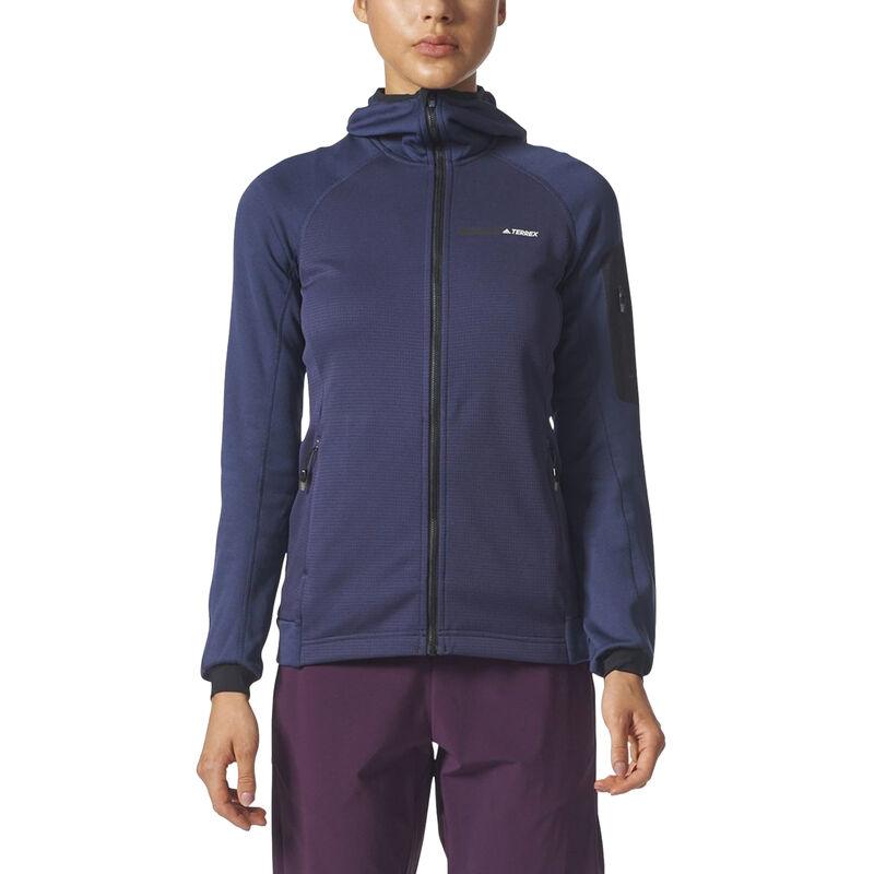 Adidas Women's Terrex Stockhorn Fleece Full-Zip Hoodie image number 8