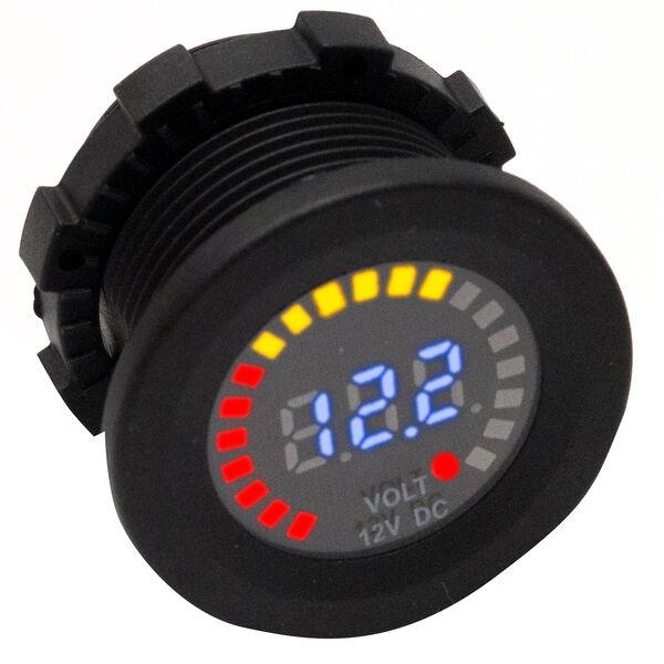 Race Sport DC Socket Digital Voltmeter, 12V