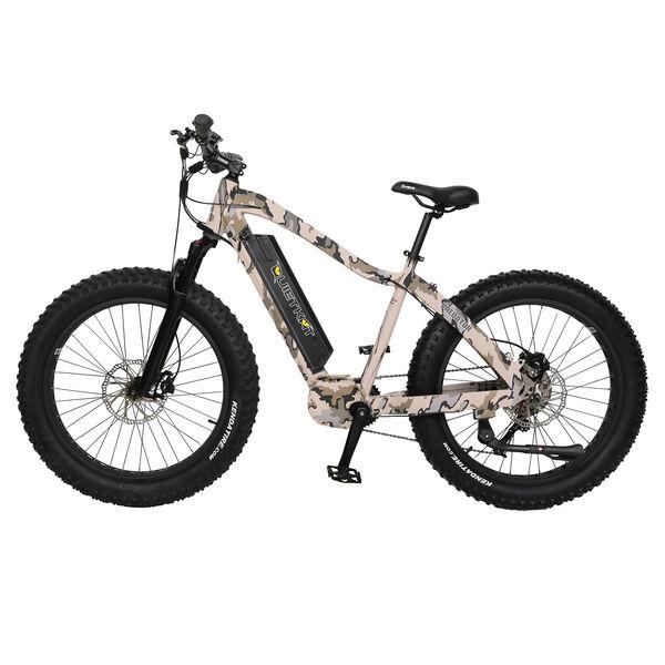 "QuietKat Predator 750-Watt Electric Mountain Bike 17"", Camo"