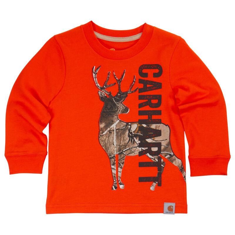 Carhartt Child's Deer Camo Long-Sleeve T-Shirt image number 1
