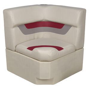Toonmate Designer Pontoon Corner Section Seat - TOP ONLY - Platinum/Dark Red/Mocha