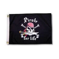 Pirate Heads Pirate for Life Boat Flag
