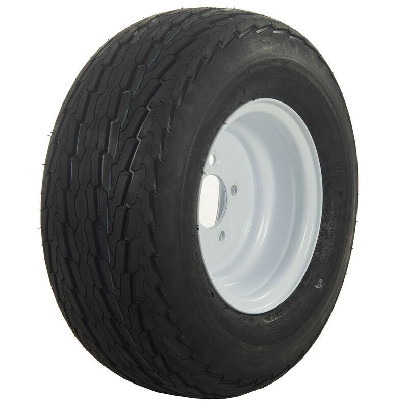Tredit H188 5.70 x 8 Bias Trailer Tire, 5-Lug Standard White Rim image number 1