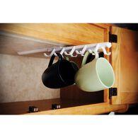 Under the Shelf Sliding Cup Rack