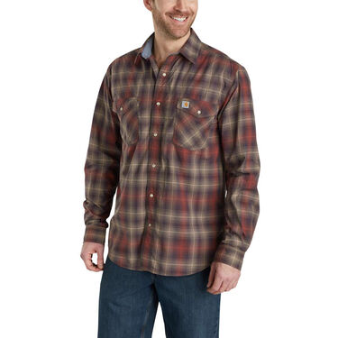 Carhartt Men's Rugged Flex Bozeman Long-Sleeve Button-Up Shirt