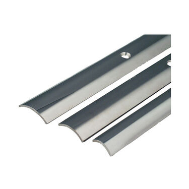 "Stainless Steel Hollow Back Rub Rail, 3/4"" x 12'"