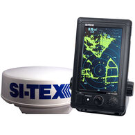 "Si-Tex T-760 Compact Color Radar With 4kW 18"" Dome"