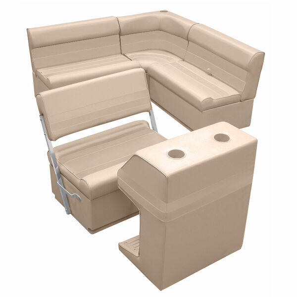 Deluxe Pontoon Furniture w/Toe Kick Base - Rear Group 3 Package, Sand