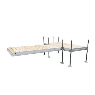 Tommy Docks 12' T-Style Aluminum Frame With Cedar Decking Complete Dock Package