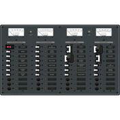 Blue Sea AC (2 Sources)/DC Main Toggle Circuit Breaker Panel (230V European AC)